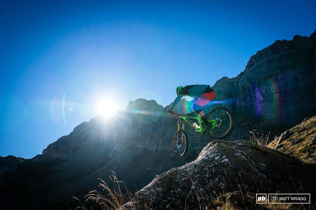 Enduro MTB Trail in Spanish Pyrenees